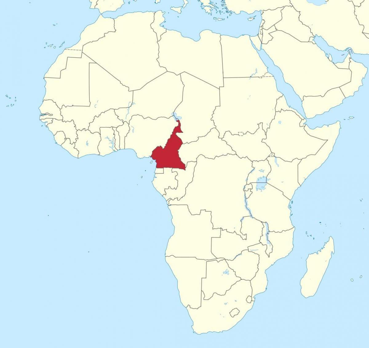 Cameroun I Vestafrika Kort Kort Over Cameroun I Vestafrika